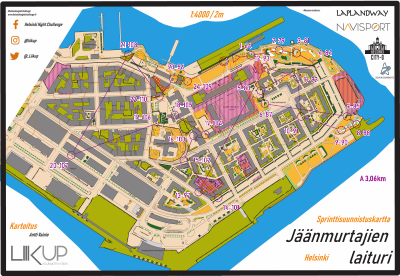 Helsinki Night Challenge A-rata, Jäänmurtajienlaituri