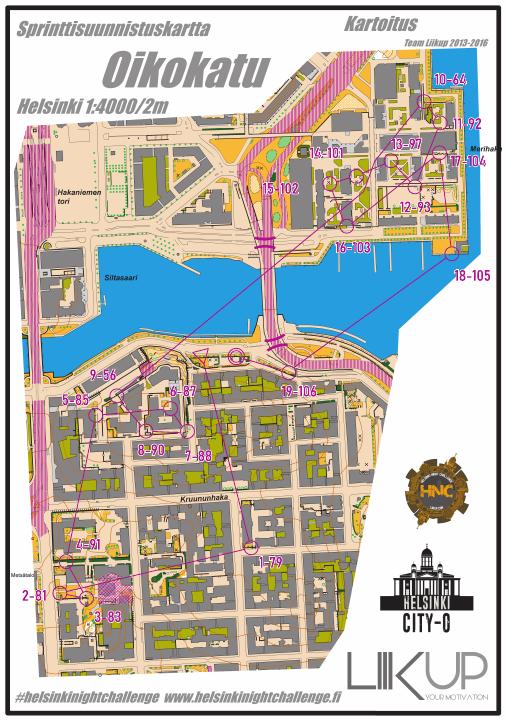 Helsinki Night Challenge A-rata, Kruununhaka