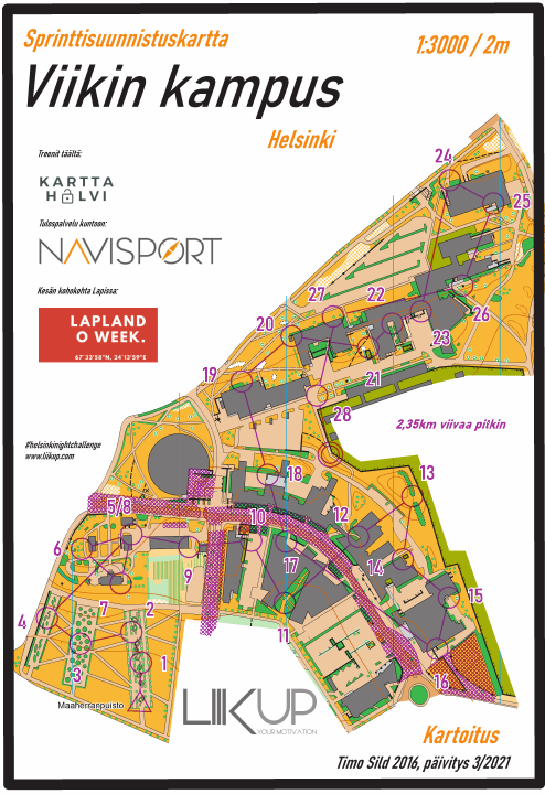 Helsinki Night Challenge 2021, Viikin Kampus