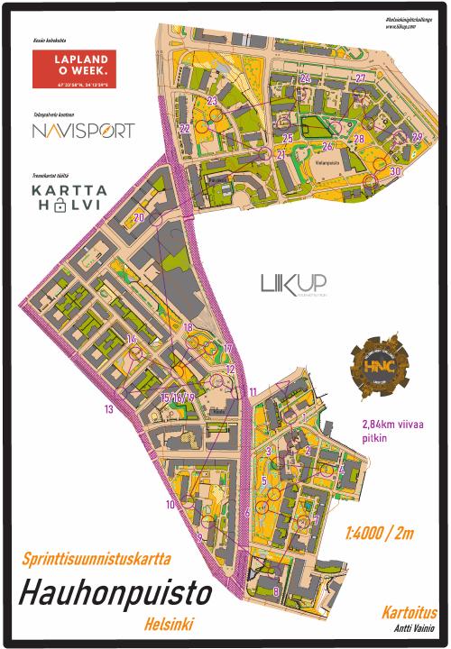 Helsinki Night Challenge 2021, Hauhonpuisto