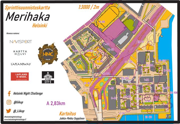 Helsinki Night Challenge A-rata, Merihaka