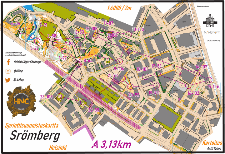 Helsinki Night Challenge A-rata, Strömberg